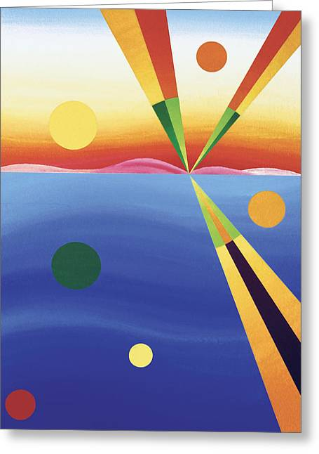 York Beach Greeting Cards - Dreaming Greeting Card by Eliot LeBow