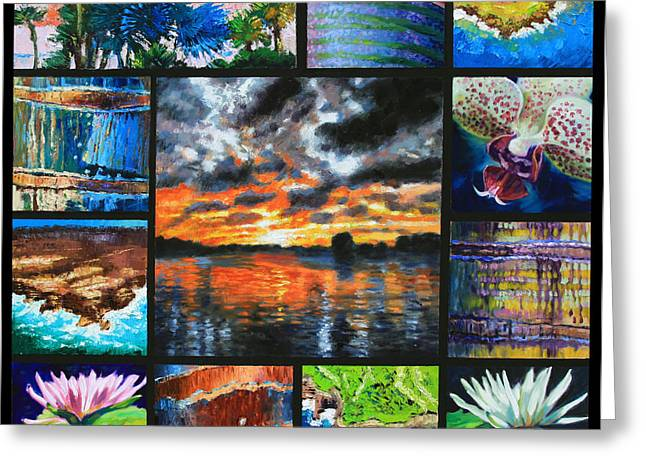 Sundet Greeting Cards - Dreaming of a Tropical Paradise Greeting Card by John Lautermilch