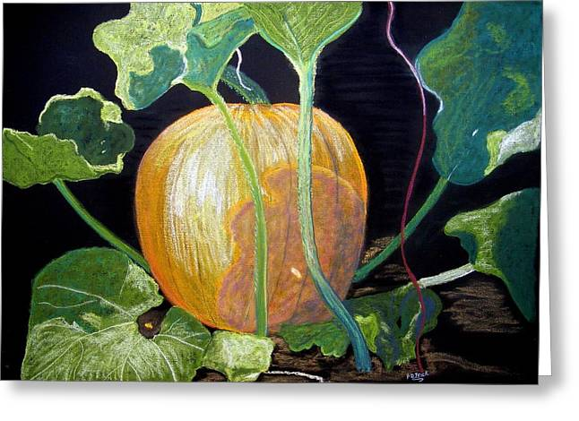 Pumpkins Pastels Greeting Cards - Dreaming Of Fall Greeting Card by Diane Frick