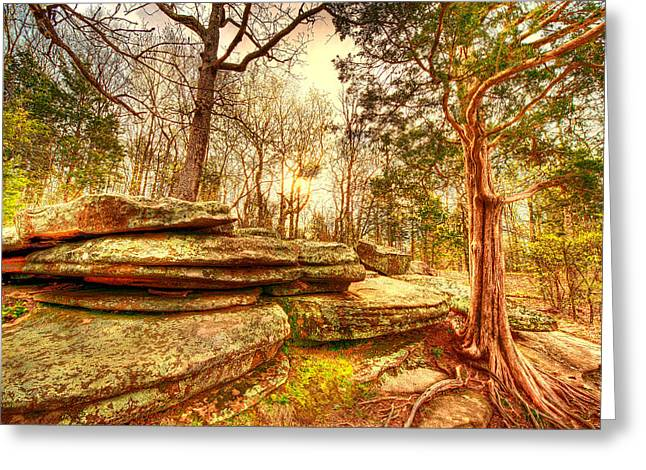 Southern Illinois Greeting Cards - Dreaming of Garden of the Gods Greeting Card by Donna Caplinger
