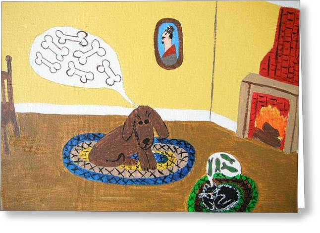 Braided Rugs Greeting Cards - Dreaming of Prosperity Greeting Card by Jeannie Atwater Jordan Allen