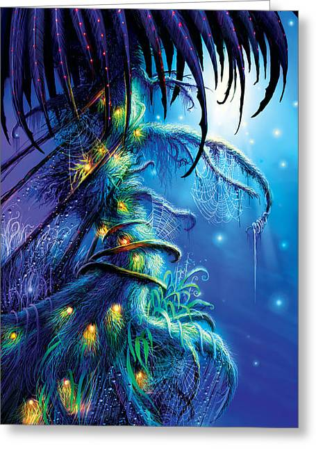 Dreams Paintings Greeting Cards - Dreaming Tree Greeting Card by Philip Straub