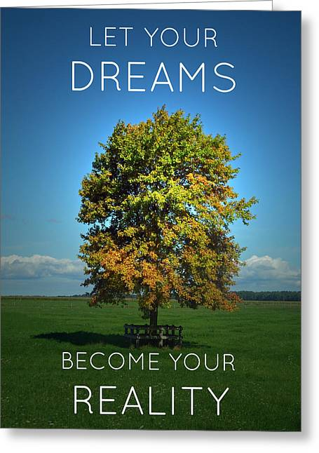 Dream Scape Greeting Cards - DReams Become Reality Greeting Card by Cyryn Fyrcyd