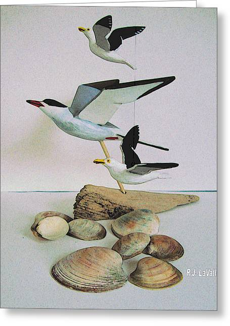 Tern Digital Art Greeting Cards - Dreams evoked from wooden birds Greeting Card by Roland LaVallee
