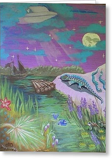 Arcturus Greeting Cards - Dreams of Forecasts Greeting Card by Lana Austin aka Oto