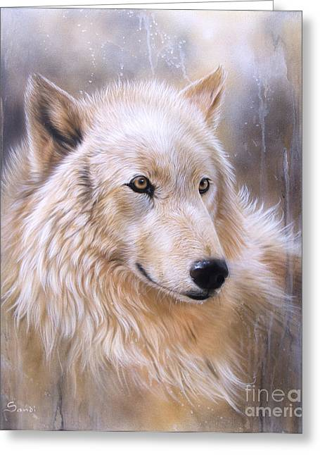 Wolf Song Studio Greeting Cards - Dreamscape - Wolf II Greeting Card by Sandi Baker