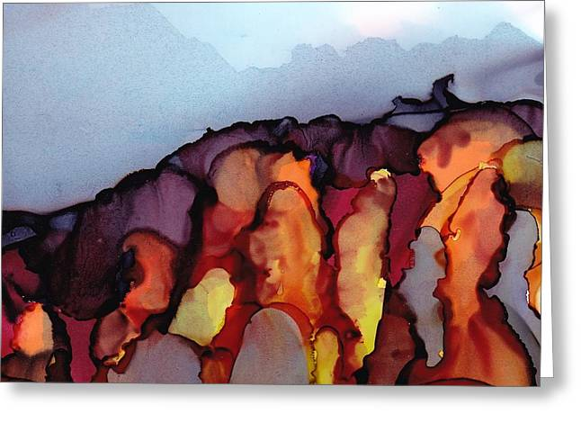 Dreamscape No. 86 Greeting Card by June Rollins