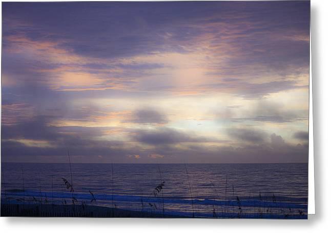Dreamy Blue Atlantic Sunrise Greeting Card by Teresa Mucha