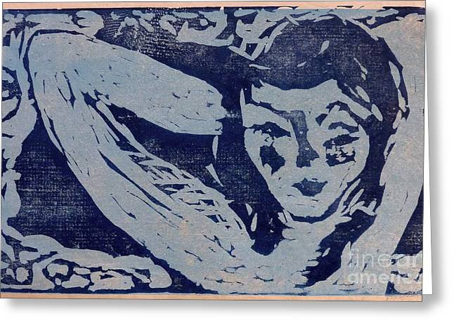 Printmaking Reliefs Greeting Cards - Dreamy Greeting Card by Preston -