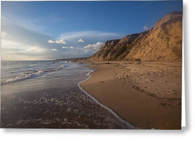 Sandstone Bluffs Greeting Cards - Dreamy Seascape  Crystal Cove State Beach Greeting Card by Cliff Wassmann