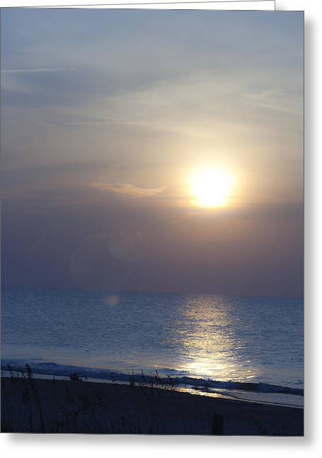 Atlantic Beaches Greeting Cards - Dreamy September Sunrise Greeting Card by Teresa Mucha