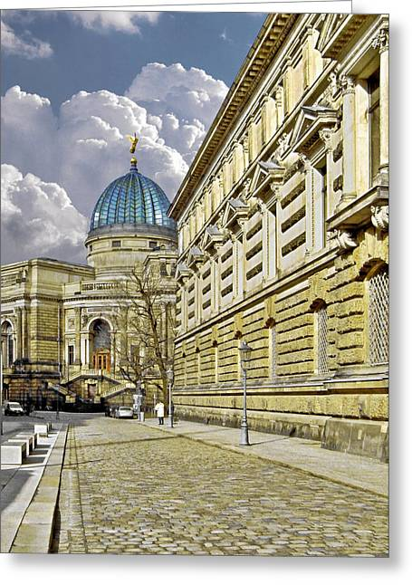 Dresden Academy Of Fine Arts Greeting Card by Christine Till