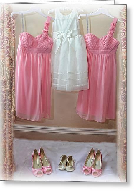 Bride And Groom Greeting Cards - Dress to Impress Greeting Card by Alex Hardie