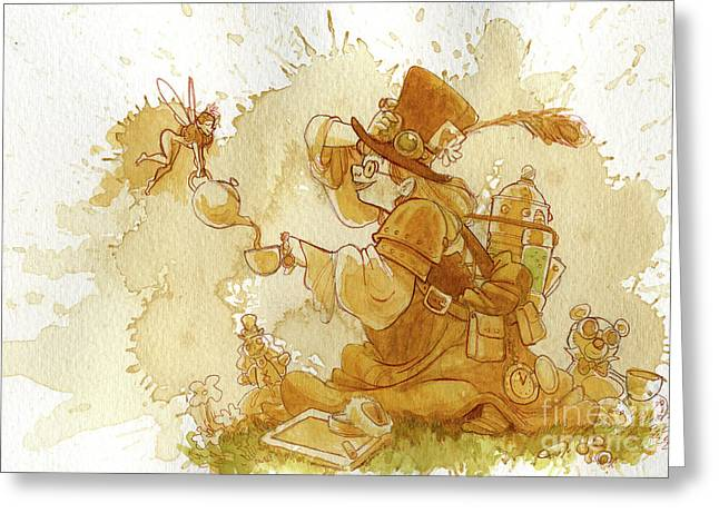 Victorian Greeting Cards - Dress Up Greeting Card by Brian Kesinger