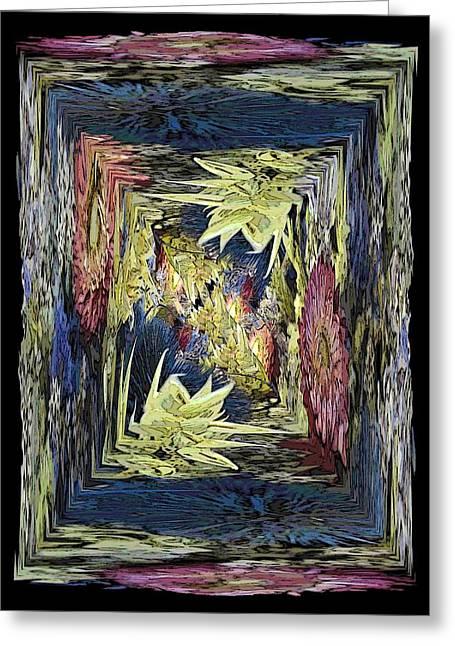 Floral Digital Art Digital Art Greeting Cards - Dried 2 Greeting Card by Tim Allen