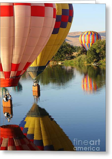 Drifting Along On The Yakima River Greeting Card by Carol Groenen