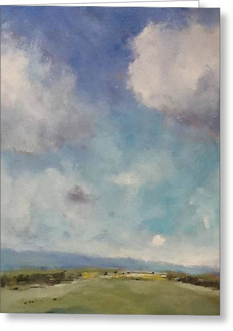 Drifting Clouds Over Arreton Valley Greeting Card by Alan Daysh