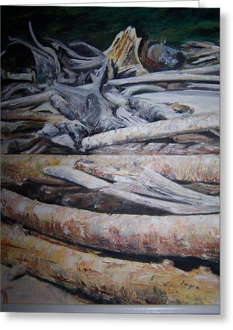 Driftwood Greeting Card by Joyce Reid