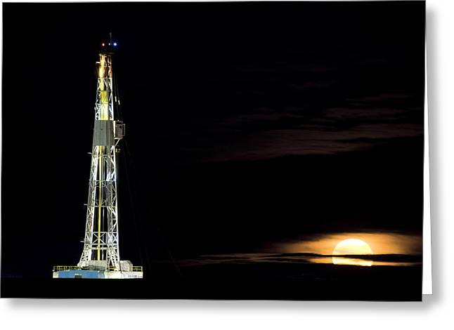 Masts Digital Art Greeting Cards - Drilling Rig Potash Mine Greeting Card by Mark Duffy