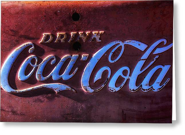 Coca Cola Signs Greeting Cards - Drink Coca Cola Greeting Card by Garry Gay