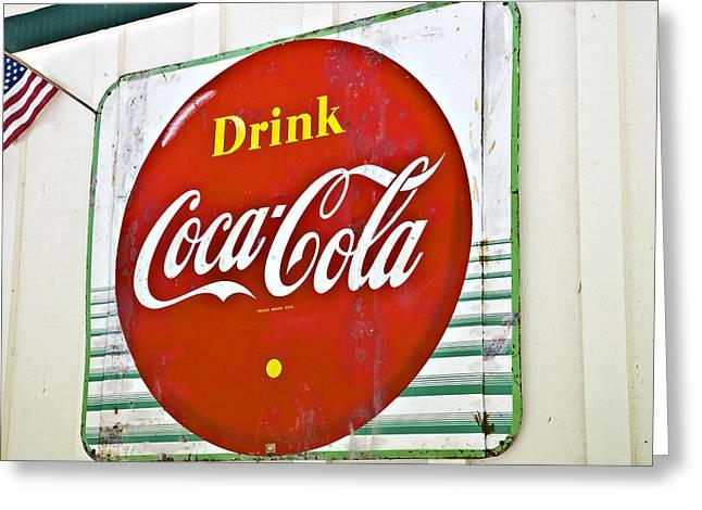 Susan Leggett Photographs Greeting Cards - Drink Coca Cola Greeting Card by Susan Leggett