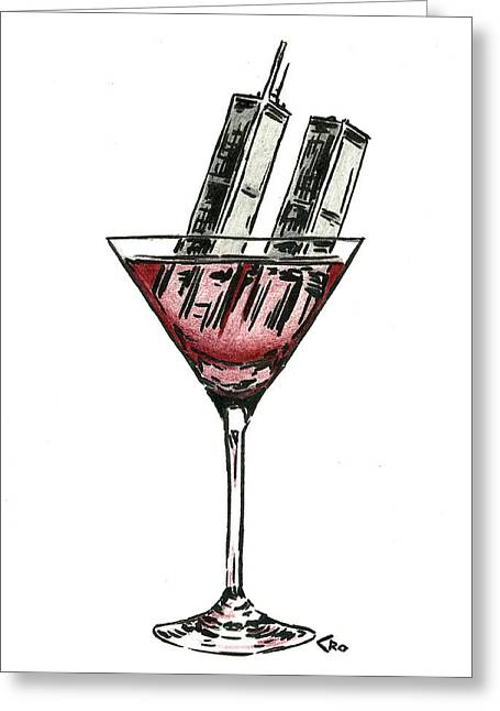 Forgotten Drawings Greeting Cards - Drink To Never Forget Greeting Card by Chris Ortega