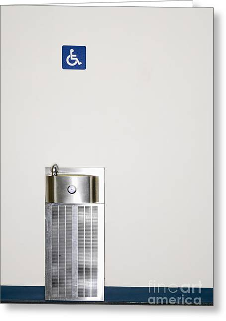 Disability Greeting Cards - Drinking Fountain Greeting Card by Andersen Ross