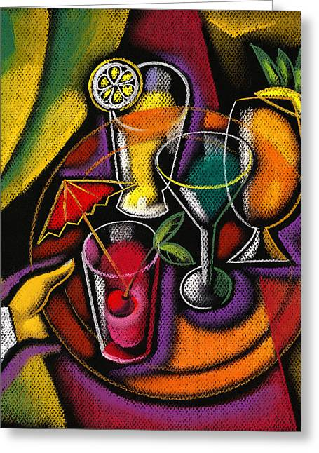 Concept Paintings Greeting Cards - Drinks Greeting Card by Leon Zernitsky