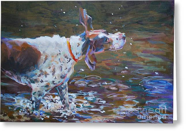 Pointer Greeting Cards - Drip Dry Greeting Card by Kimberly Santini