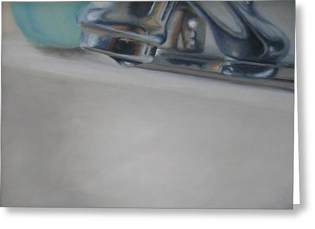Faucet Paintings Greeting Cards - Drip Greeting Card by Erin Hardin