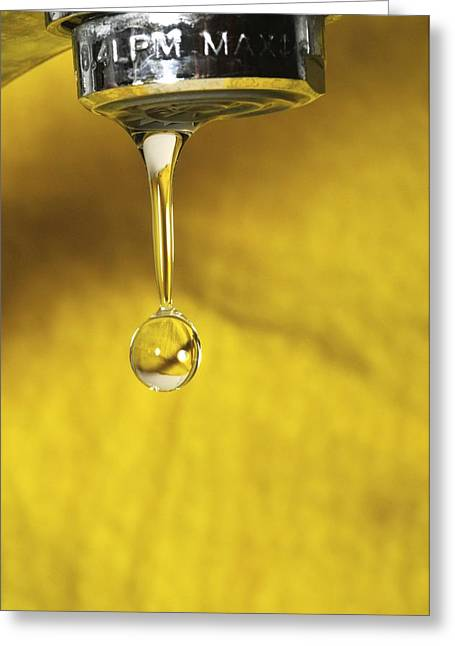 Dripping Tap Greeting Cards - Dripping Tap Greeting Card by Photostock-israel