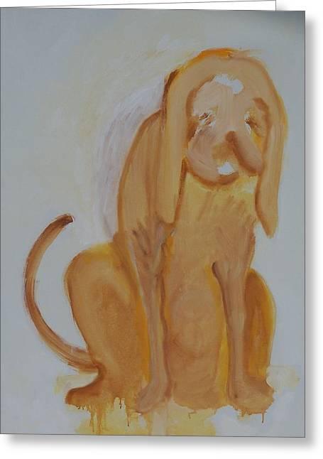 Drippy Dog Greeting Card by Jay Manne-Crusoe