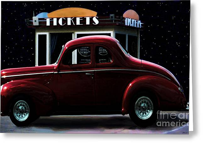 Drive In Style Greeting Cards - Drive In Movie Greeting Card by Jerry L Barrett