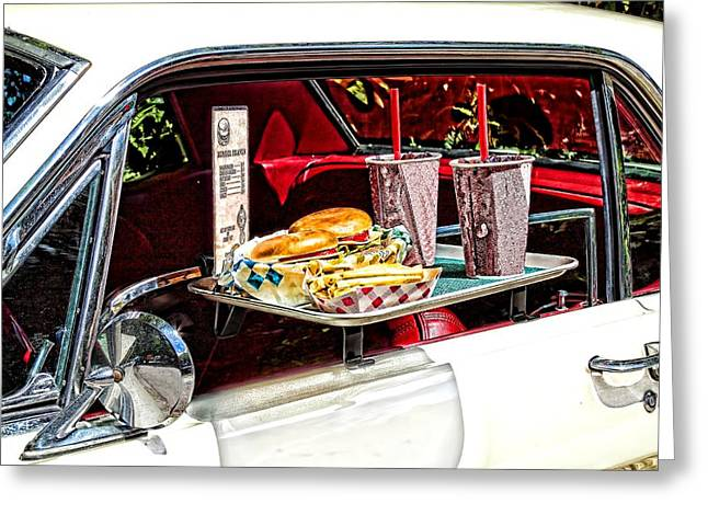 French Fries Greeting Cards - Drive-in Greeting Card by Rudy Umans