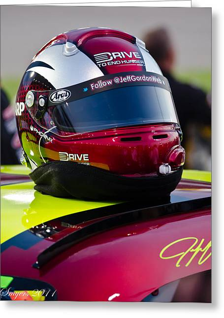 Jeff Gordon Greeting Cards - Driven Greeting Card by William Smyers
