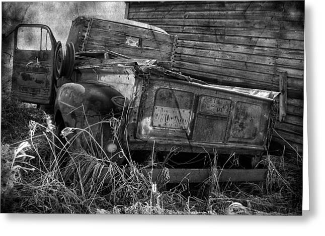 Old Trucks Greeting Cards - Driver Side  Greeting Card by Jerry Cordeiro