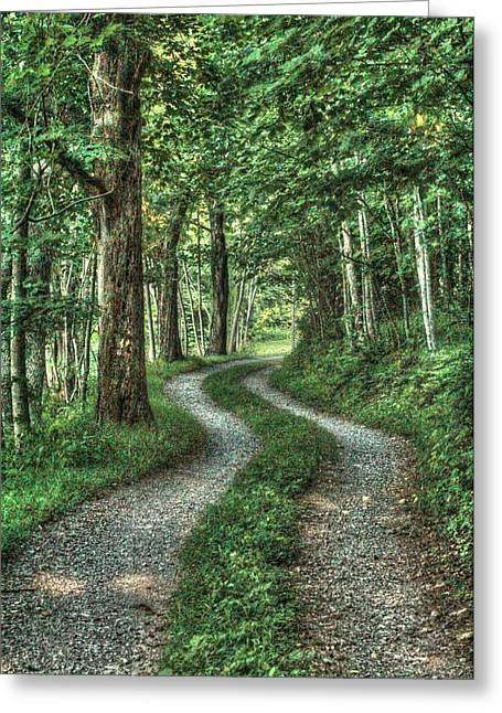 Driveway Out Greeting Card by Heavens View Photography