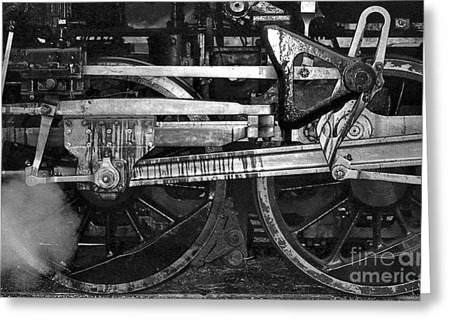 Consolidation Greeting Cards - Driving Wheels Greeting Card by Richard Rizzo
