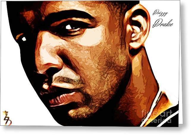 Drizzy Greeting Cards - Drizzy Drake Greeting Card by The DigArtisT