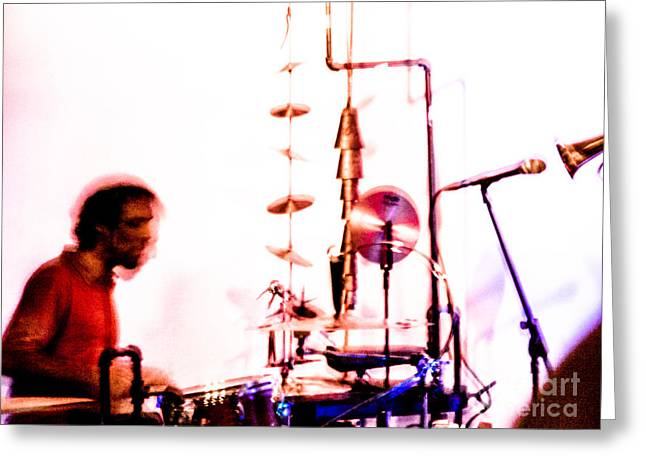 Droid - Drums Amir Ziv Greeting Card by Jim DeLillo