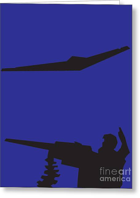 Airplane Pastels Greeting Cards - Drone Greeting Card by Derrick Hayes