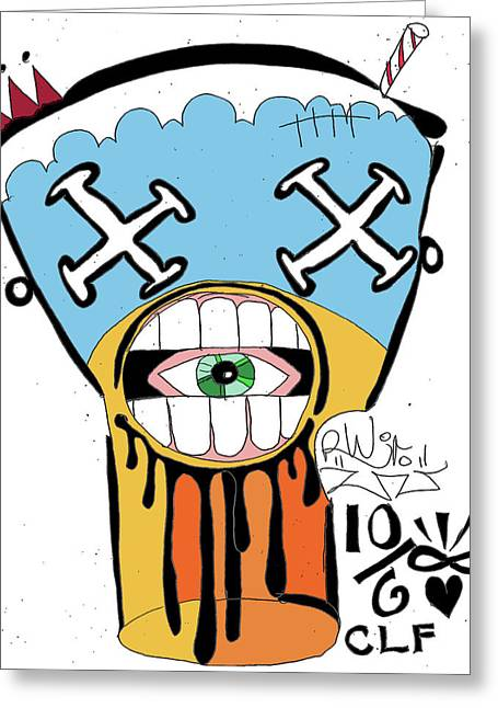 Raw Contemporary Graffiti Greeting Cards - DROOL Shake Greeting Card by Robert Wolverton Jr