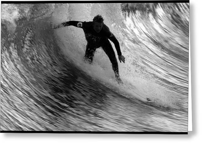 Surfing In San Clemente Greeting Cards - Dropping in at San Clemente Pier Greeting Card by Brad Scott