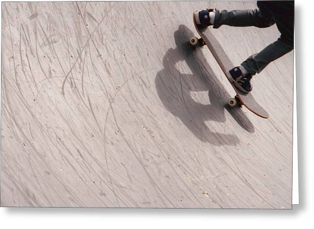 Half Pipe Greeting Cards - Dropping Greeting Card by Marcio Faustino