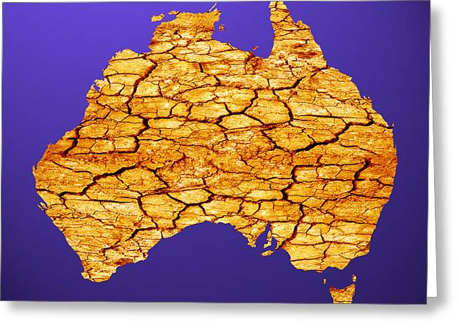 Desertification Greeting Cards - Drought In Australia, Conceptual Image Greeting Card by Victor De Schwanberg