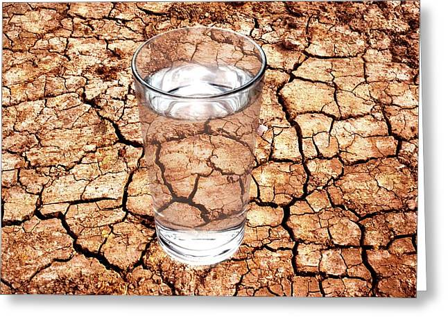Mud Season Greeting Cards - Drought Greeting Card by Victor De Schwanberg