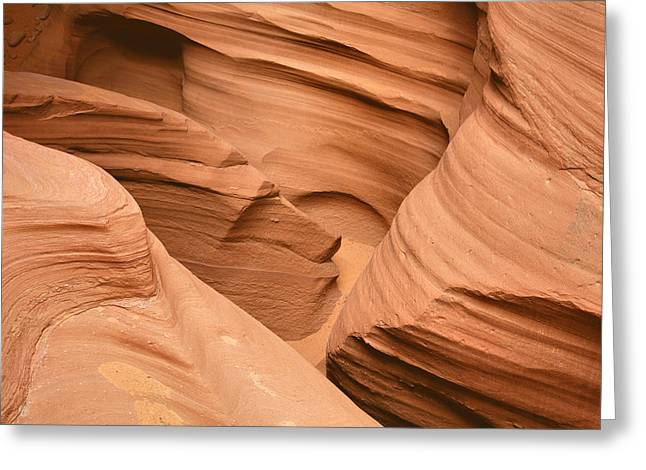 Drowning in the sand - Antelope Canyon AZ Greeting Card by Christine Till