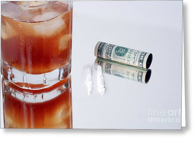 Money Problems Greeting Cards - Drug Abuse Greeting Card by Photo Researchers, Inc.
