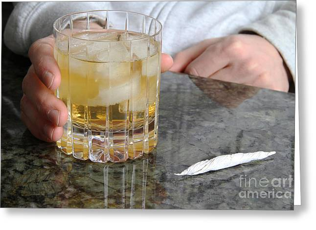 Marijuana Legalization Greeting Cards - Drug Use Greeting Card by Photo Researchers