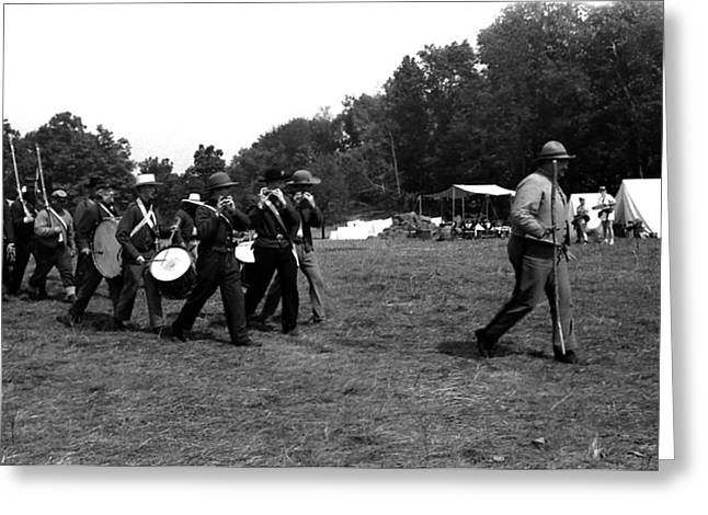 Kay Sawyer Greeting Cards - Drum and Fife Corp March Greeting Card by Kay Sawyer